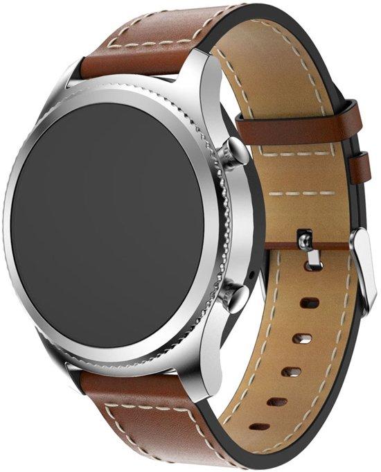 PU Lederen Horloge Band Voor Samsung Gear S3 Classic / Frontier Armband Polsband - Large/Small - Bruin