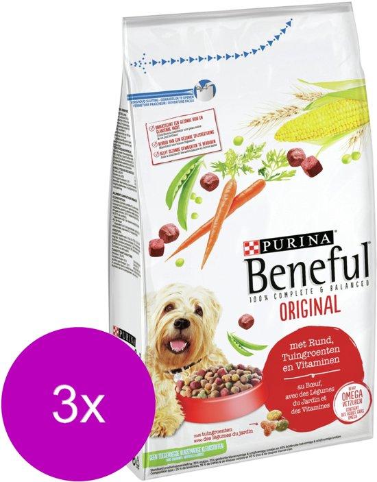 Beneful Original Groente&Rund - Hondenvoer - 3 x 1.5 kg