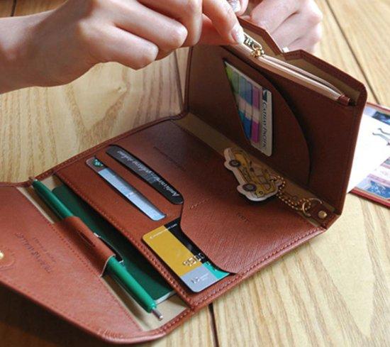 Creditcard Portemonnee Leer.Bol Com Luxe Reis Portemonnee Leer Creditcard Houder Paspoort