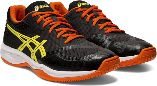 Asics Netburner Ballistic Sportschoenen - Maat 44 - Mannen - zwart/ oranje/ geel