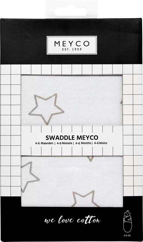 SwaddleMeyco Inbakerdoek - 4-6 maanden - Stars grijs