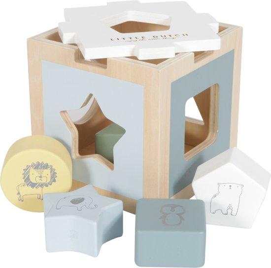Afbeelding van LD houten vormenstoof zoo - blue speelgoed