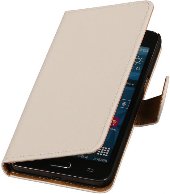 Wit Samsung Galaxy Grand Prime Bookcase Cover Wallet Hoesje in Westkapelle