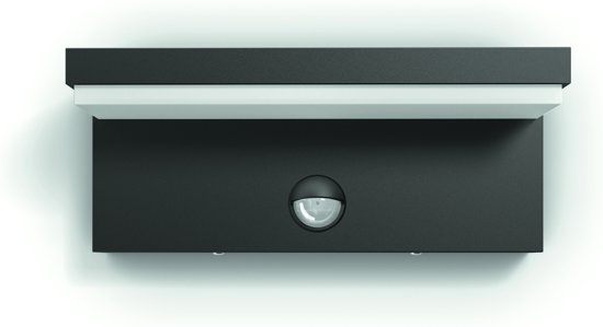 Philips myGarden Bustan - Wandlamp - 2 Lichtpunten - antraciet - met sensor - 2 x 500lm