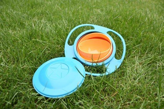 Baby kom _ Anti Mors _ 360 Graden Spill Proof _ Oranje/Blauw