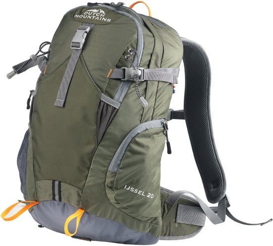 5a21c08fd0b Dutch Mountains - Backpack IJssel - Rugzak 20 Ltr - Rugventilatie +  Regenhoes - Groen