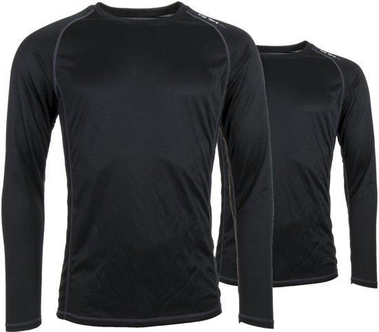 Tenson Caspian Thermoshirt Heren  Wintersportpully - Maat XL  - Mannen - zwart