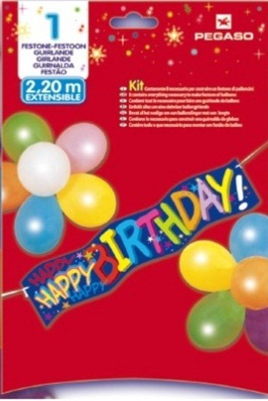 Amscan Decoratieset Happy Birthday 7-delig 220 Cm