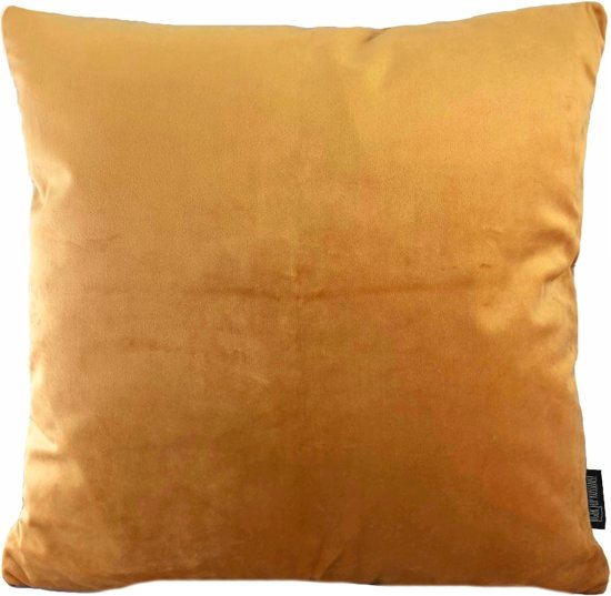 Velvet Gold Orange Kussenhoes | Fluweel - Polyester | 45 x 45 cm | Goud