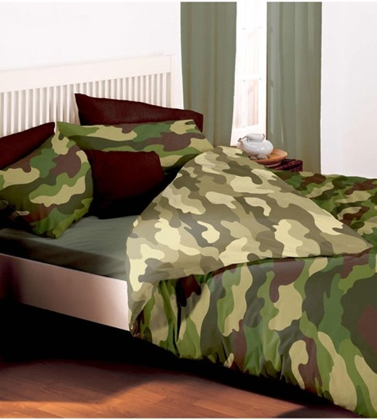 camouflage 2 persoons dekbedovertrek legerprint. Black Bedroom Furniture Sets. Home Design Ideas