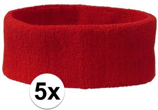 De Kleur Rood : Bol sportdag hoofd zweetbandjes rood hoofdbandjes team