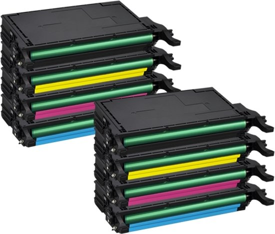 PlatinumSerie® set 8 toner XXL alternatief voor Samsung CLP-620 cyaan magenta yellow black