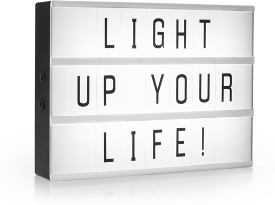 Smartwares IOL-001-BW - Lightbox LED A4 - incl. 85 karakters