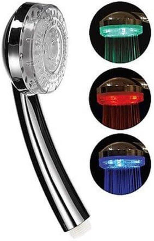 basic douchekop met led verlichting standaardaansluiting