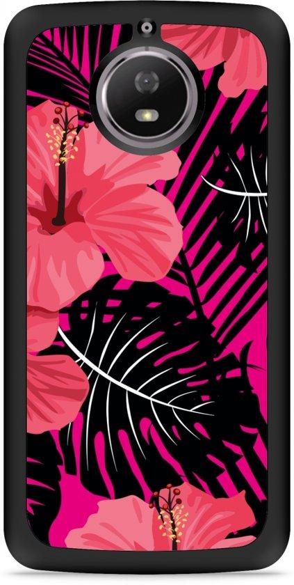 Moto G5S Hardcase Hoesje Tropical Flowers
