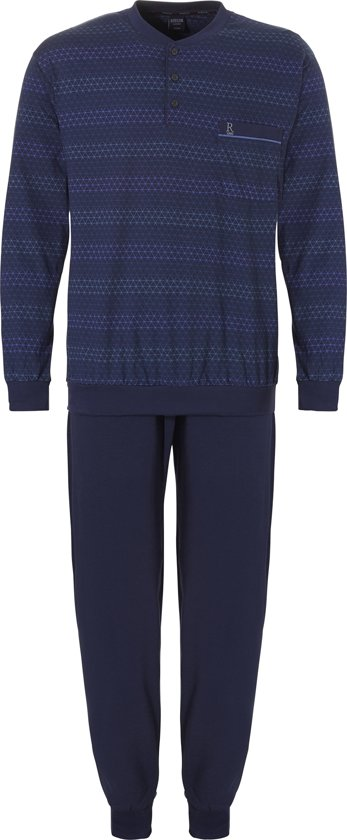 Bolcom Robson Heren Tricot Pyjama Blauw 50 Volwassen
