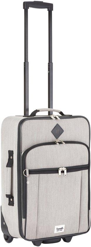 Travelz - Hipster - Handbagage koffer Reiskoffer trolley - 55 cm - Grijs