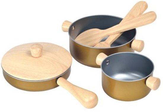 Bol Com Plan Toys Houten Keuken Accessoires Cooking Utensils
