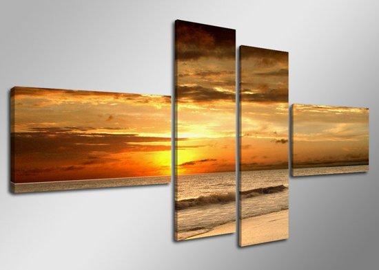 Art4-all - Canvas Schilderij Zonsondergang - 160x70cm