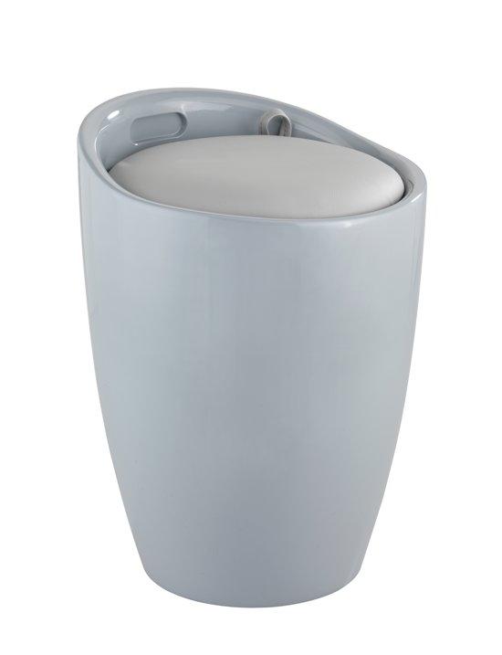bol.com | wasmand met uitneembare waszak / badkamer stoel licht grijs