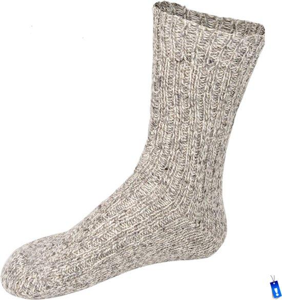 Noorse Starling - Sokken Lang - Unisex - Maat 43-46 - Grijs melee