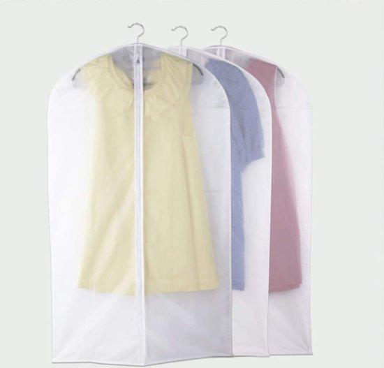 2X Kledinghoes Semi-Transparant L - Opberghoes / Koffer Hoes Voor Kleding / Pak - Kostuumhoes