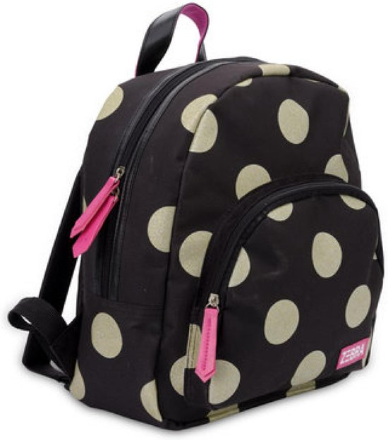 9206a82578c bol.com   Zebra Trends Girls Rugzak Glitter Dots Gold