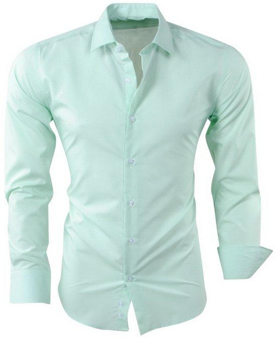 Overhemd Mannen.Bol Com Pradz Heren Overhemd Mint Groen