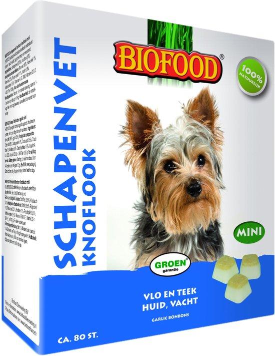 Biofood Schapenvet Mini Bonbons Knoflook - 80 stuks