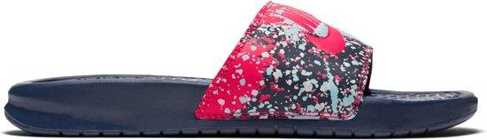 huge selection of a9188 569e5 Nike Benassi JDI Print Slippers Dames Slippers - Maat 40.5 - Vrouwen -  blauwroze