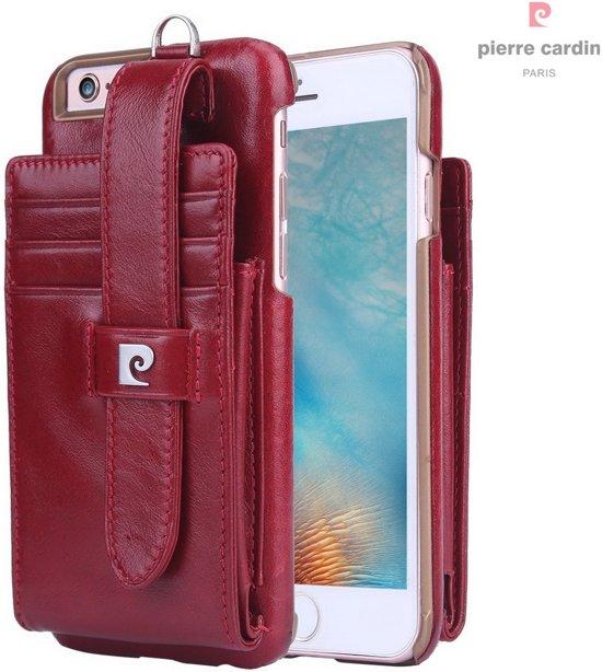 Pierre Cardin Backcover hoesje Rood - Stijlvol - Leer - iPhone 6/6S  - Luxe cover