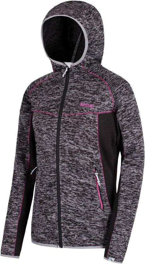0a80e81c530 Regatta Willowbrook V Fleece Jas Dames Outdoorjas - Maat XXXL - Vrouwen -  zwart/grijs/roze