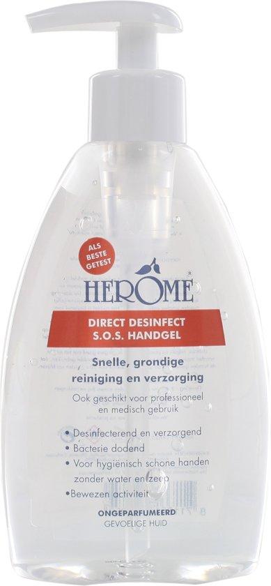 Herôme Direct Desinfect Sensitive - 200 ml - Desinfectie handgel zonder parfum