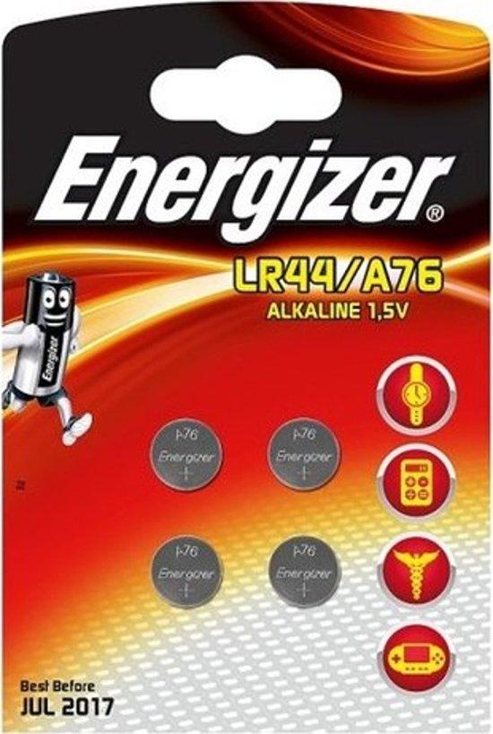 Energizer Knoopcelbatterij Lr44/a76 Alkaline 1,5v 4 Stuks