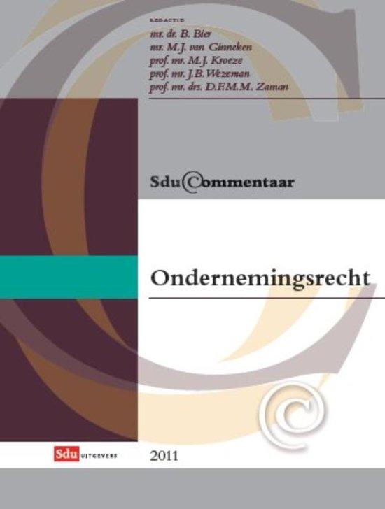 Boek cover Sducommentaar - Sdu Commentaar Ondernemingsrecht 2011 van B. Bier (Onbekend)