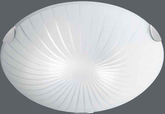 Trio Serie 6026 Plafondlamp 2x40W RVS Wit 602600200