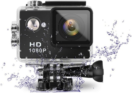 Eken A9 Full HD1080P Action Camera inclusief veel accessoires