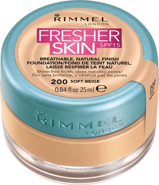 Rimmel London Fresher Skin - 200 Soft beige - Foundation