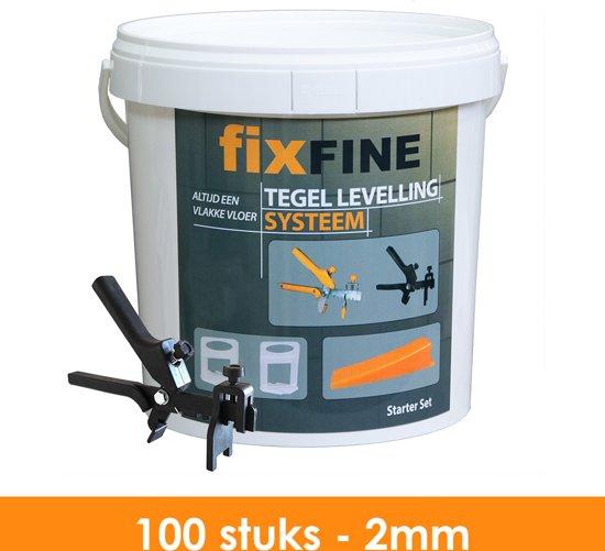 Tegel Levelling Systeem - Nivelleersysteem - Starter Set - 100 stuks – 2mm