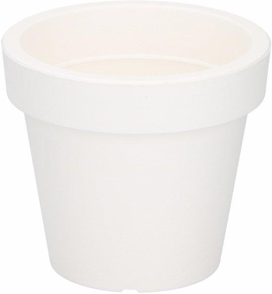 Plastic Bloempot Wit.Bol Com Kunststof Bloempot Plantenpot Wit 13 Cm
