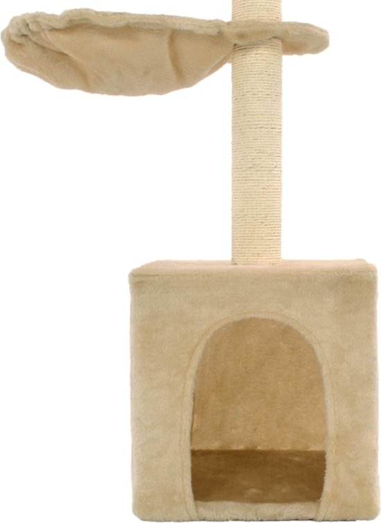 vidaXL Kattenkrabpaal met sisal krabpalen 105 cm beige