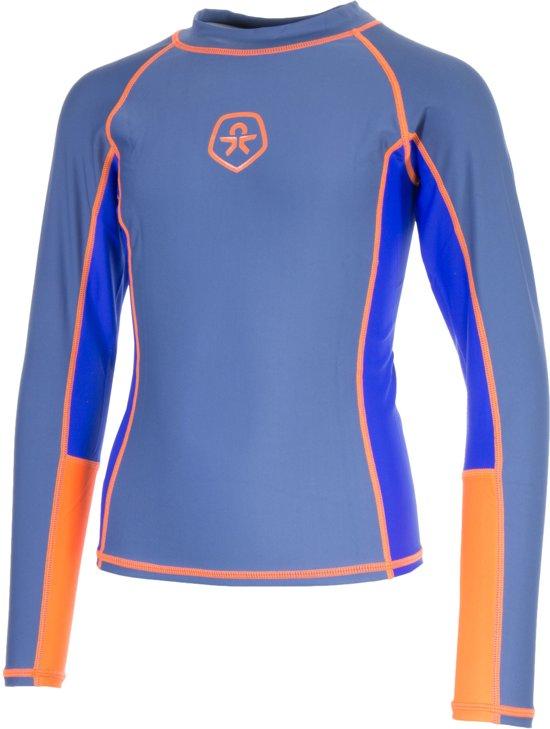 Color Kids Vissen T-shirt LS UPF Zwemshirt - Maat 98  - Unisex - grijs/oranje/blauw