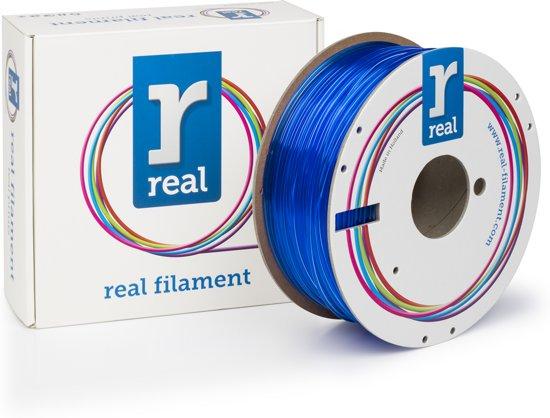 REAL Filament PETG transparant blauw 2.85mm (1kg)