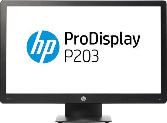 HP ProDisplay P203 20'' HD+ LED Zwart computer monitor