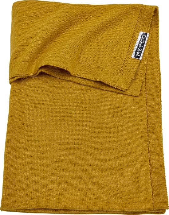 Meyco Knit basic ledikantdeken - 100x150 cm - Okergeel