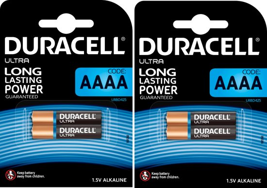 Duracell Ultra AAAA - 4 stuks (2 Blisters a 2st)