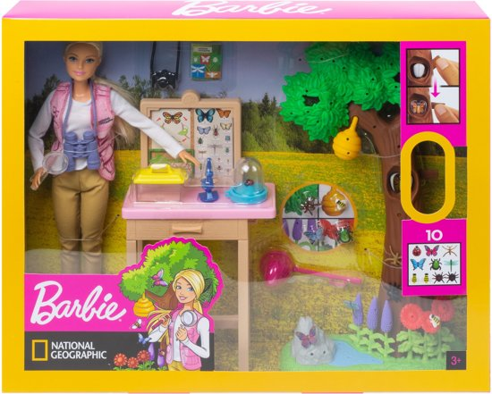 Barbie National Geographic Vlinderwetenschapper Speelset - Barbiepop
