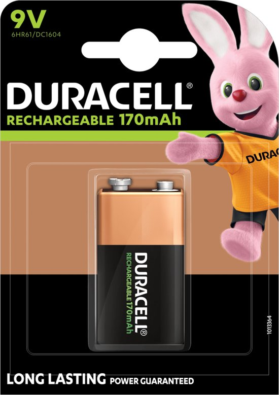 Duracell 9V Oplaadbare Batterij - 170 mAh - 1 stuk