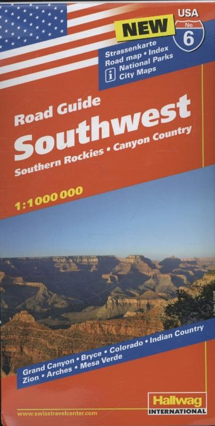 Hallwag USA Road Guide 06. Southwest 1 : 1 000 000