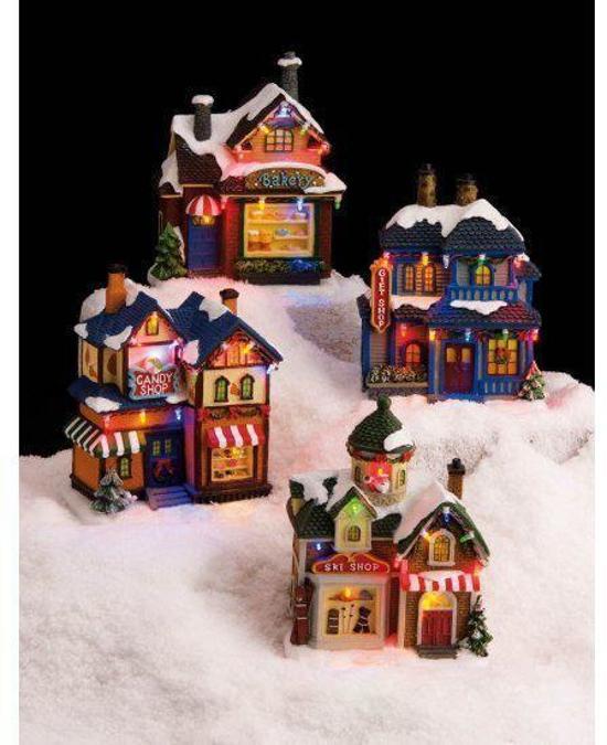 bol.com | Kersthuisje met LED verlichting 22 cm, Fun & Feest Party ...